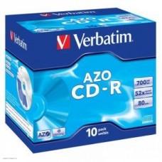 Диск CD-R Verbatim DL+ 700Mb 52x,  10шт., Jewel Case, Crystal Super Azo (43327)