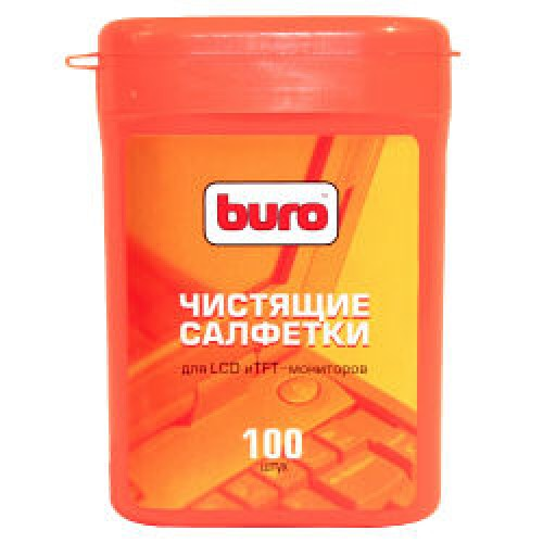 Салфетки чистящие влажные BURO BU-TFT для LCD мониторов (817436)