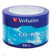 Диск CD-R Verbatim 700Mb 52x, 50шт, extra protect wagon wheel (43728)
