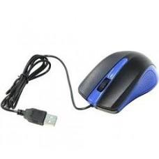 Манипулятор Oklick 225M черный/синий оптическая (1200dpi) USB (3but)