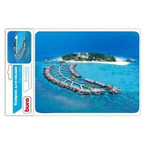 Коврик для мыши BURO BU-M10020 рисунок/тропический отель 230x180x3mm