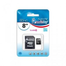 Карта памяти microSD Card 8Gb Smartbuy Class10 HC + SD адаптер (SB8GBSDCL10-01)