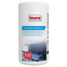 Салфетки чистящие влажные BURO BU-Tscrl  для экранов и оптики