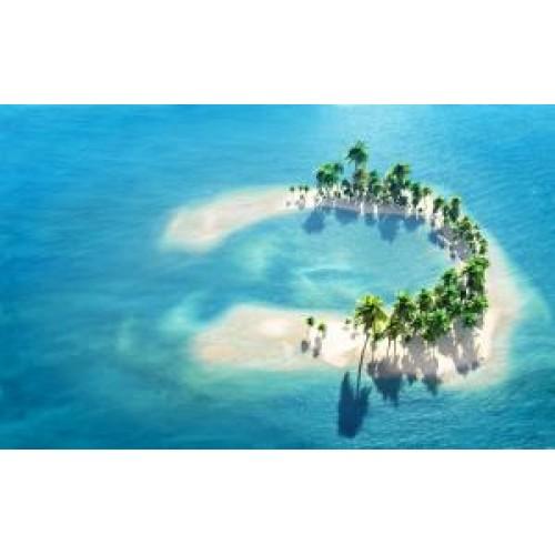 Коврик для мыши BURO BU-M10017 рисунок/остров