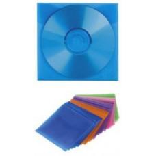 Конверт пластиковый для CD дисков, цветные 100шт. в упаковке, HAMA (H-51068)