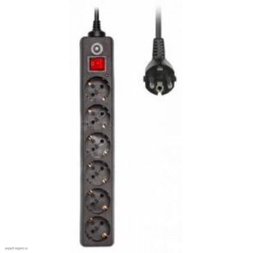 Фильтр сетевой BURO 600SH-5-B 5м (6 розеток) черный