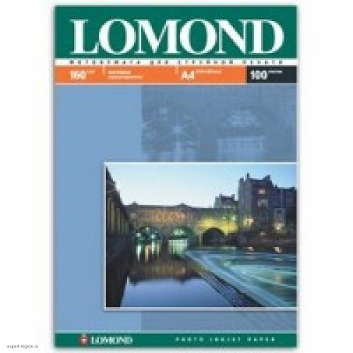 Бумага Lomond для струйной печати А4, 160 г/м2, 100 листов, матовая (0102005)