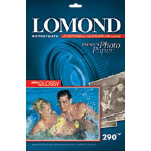Бумага Lomond для фотопечати А4, 295 г/м2, 20 листов, суперглянцевая тёплый белый (1108101)