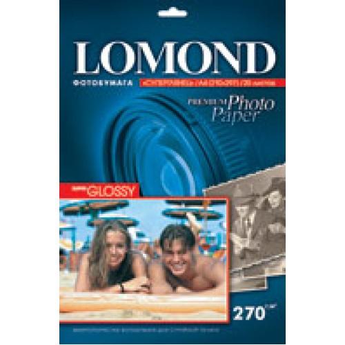 Бумага Lomond для фотопечати А4, 270 г/м2, 20 листов, суперглянцевая (1106100)