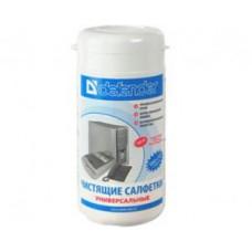 Чистящие салфетки Defender универсальные, без ароматизатора CLN30100 в тубе(110шт)