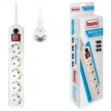 Фильтр сетевой BURO 500SH-1.8-W 1.8м (5 розеток) белый