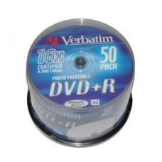 Диск DVD+R Verbatim 4,7GB 16x, 50шт., Cake Box (43550)