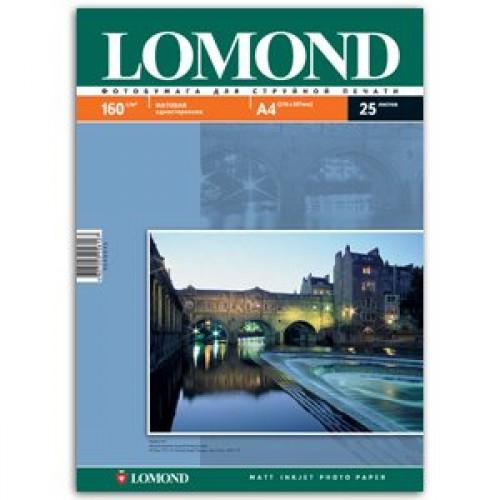 Бумага Lomond для струйной печати А4, 160 г/м2, 25 листов, матовая (0102031)