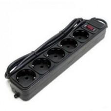 Фильтр сетевой Defender ES black, 1.8 м, 5 розеток евр.