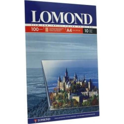 Плёнка Lomond для струйных А4, 10 листов, прозрачная 100мкр (0708411)