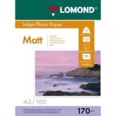 Бумага Lomond для струйной печати А3, 170 г/м2, 100 листов, матовая двусторонняя (0102012)