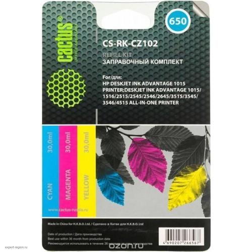 Заправочный набор RK-CZ109 HP DJ IA 3525/5525/4515/4525 black (CACTUS) 60ml