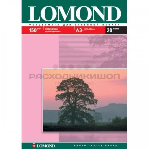 Бумага Lomond для струйной печати А3+, 150 г/м2, 20 листов, глянцевая (0102026)
