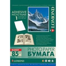 Бумага Lomond самоклеящаяся глянцевая неделенная, А4, 85 г/м2, 25 листов (2410003)