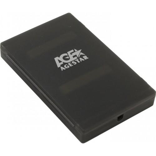 """Контейнер внешний AgeStar SUBCP1 USB2.0 для 2.5"""" HDD SATA black"""