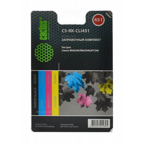 Заправочная станция RK-CLI451 Canon MG6340/5440/IP7240 (CACTUS) 120ml Color
