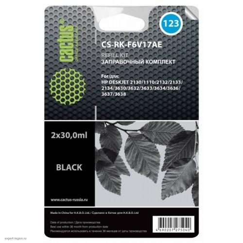 Заправочный набор RK-F6V17AE HP 2130 black (CACTUS) 60ml