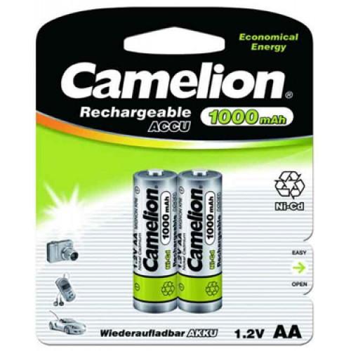 Аккумулятор Camelion NC-AA1000-BP2, AA, 1.2V 1Ah 2шт.