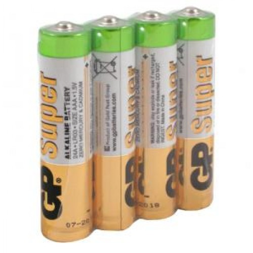Батарейки щелочные GP Super Alkaline 24ARS LR03 AAA (4шт)