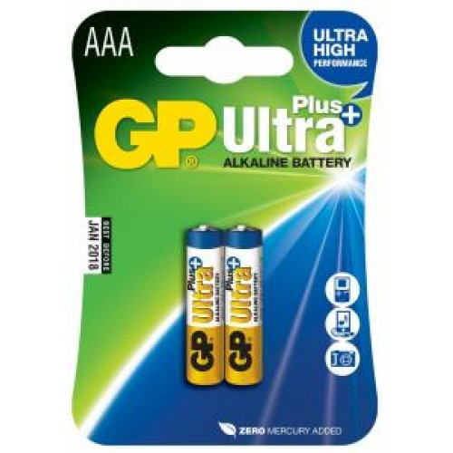 Батарейки алкалиновые GP Ultra Plus Alkaline 24AUP LR03 2шт (AAA)