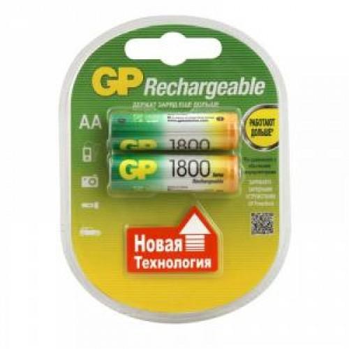 Аккумулятор GP AA (1800mAh) 180AAHC-2CR2 NiMH (2шт)
