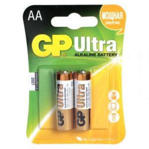 Батарейки алкалиновые GP Ultra Alkaline 15AU LR6 2шт (AA)