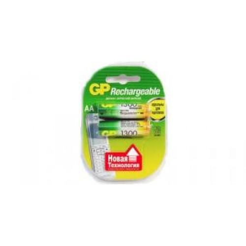 Батарейки никелевые GP 130AAHC-2DECRC2 1.2V 1.3Ah 2шт (AA)