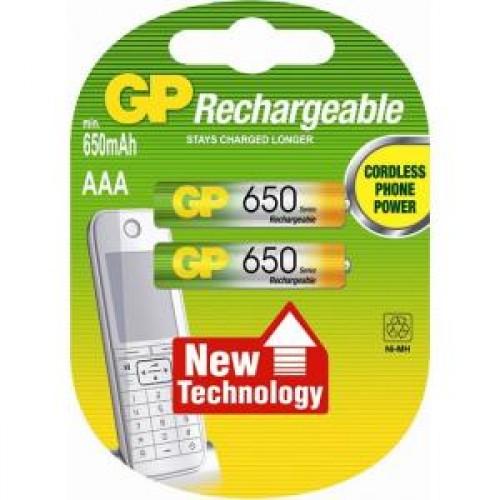 Аккумулятор GP AAA (650 mAh) Ni-Mh BL-2 (65AAAHC-2CPCR2)
