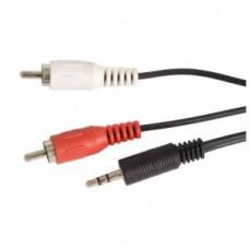Кабель аудио Ningbo 2хRCA(m) - Jack 3.5(m) 1.5m, black (JAAC010-1.5)