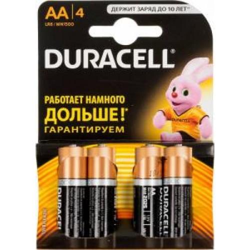 Батарейки алкалиновые Duracell LR6/4BL (AA)