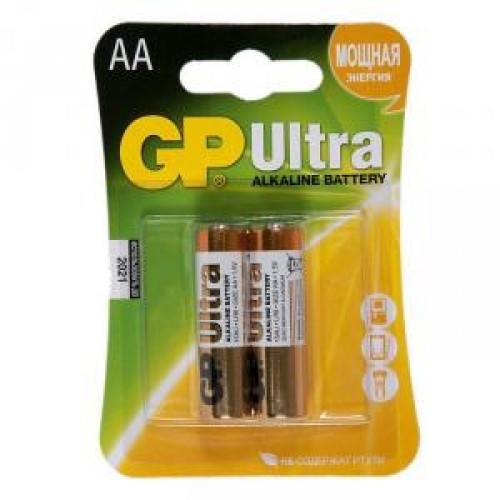 Батарейки алкалиновые GP Ultra 15AU-CR2, AA, 1.5V 2шт.