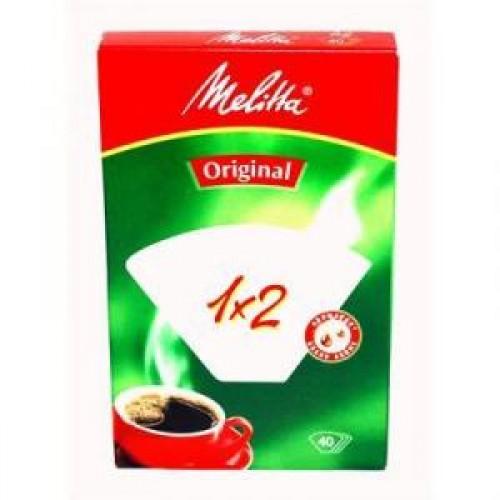 Фильтры для кофе Melitta 1х2/40 шт, белые