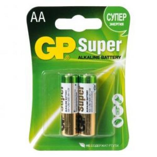 Батарейки алкалиновые GP Super Alkaline 15A LR6 (AA)
