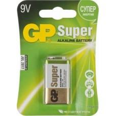 Батарейки щелочные GP Super Alkaline 1604A 6LR61,Крона, 1 шт. 9V, 550мAч