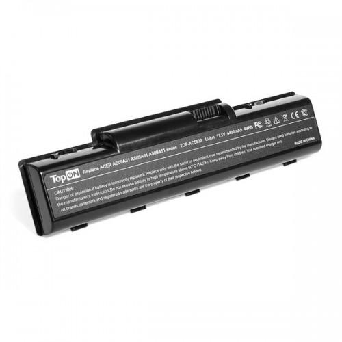 Аккумулятор TopON для Acer Aspire 4732/5334/5516/5517/5532/5732/5734, eMachines D525/D725/E527/E625/E627, 11.1V 4400mAh (TOP-AC5532)