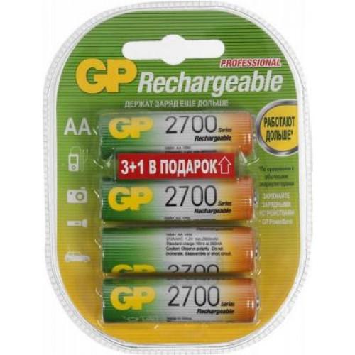 Аккумулятор GP AA (2700mAh) 270AAHC3/1 NiMH 4шт.