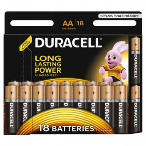 Батарейки алкалиновые Duracell BASIC LR6/18BL (AA)