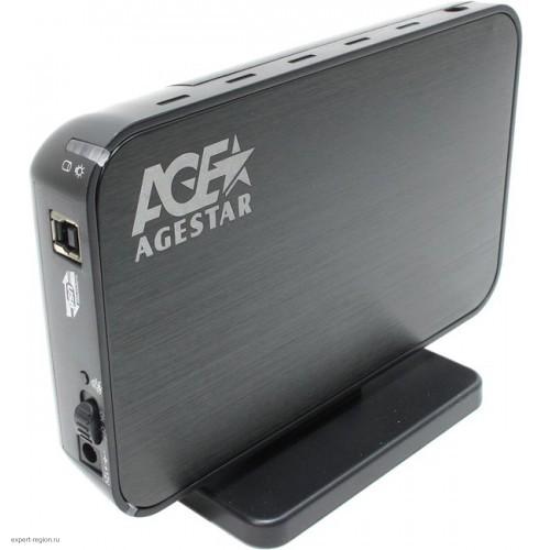 """Контейнер внешний AgeStar 3UB3A8-6G, 3.5"""", USB 3.0 Black"""