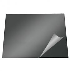 Накладка настольная 52х65см с прозрачным верхом черная (7201-01)