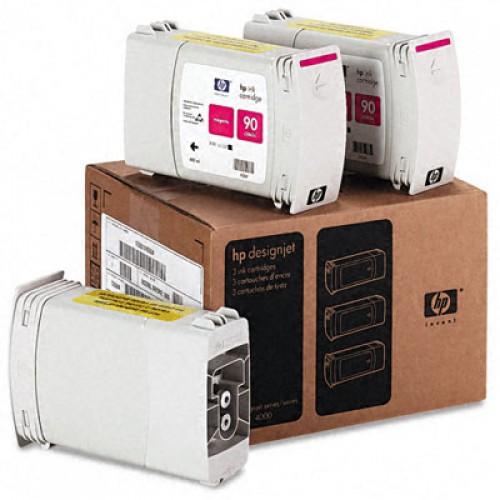 Картридж C5084A (№90) HP DesignJet 4000/4500 Magenta (x3-pack) 400мл