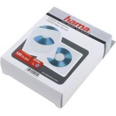 Конверты бумажные для  CD/DVD, прозрачное окно, 100 шт., белый, Hama (H-51174)
