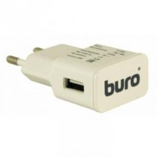 Сетевое зарядное устройство Buro TJ-159w, USB, 2.1A, white