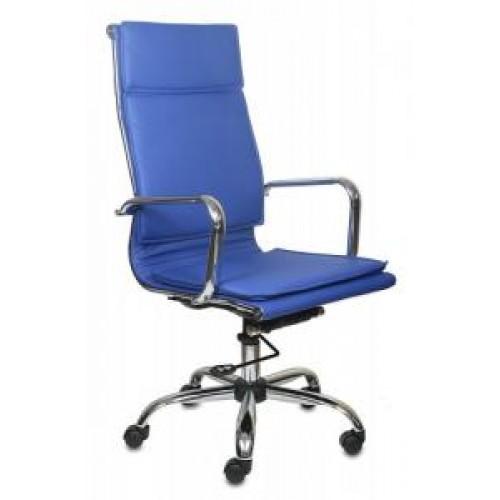 Кресло Бюрократ CH-993/blue синий иск.кожа