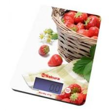Весы кухонные Sakura SA-6075 K Клубника