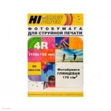 Бумага Hi-image paper для фотопечати 102х152, 170 г/м2, 500 листов, глянцевая односторонняя